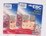 "675 STREET TRIPLE ""R"" 2009-15: FULL FRONT SET EBC Sintered ""HH"" Brake Pads EBC FA347HH =2xpair"